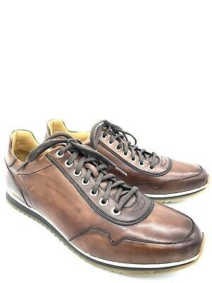 (eBay Sponsored) Magnanni Brown Leather Fashion Sneakers Shoes Runners Laces Men...