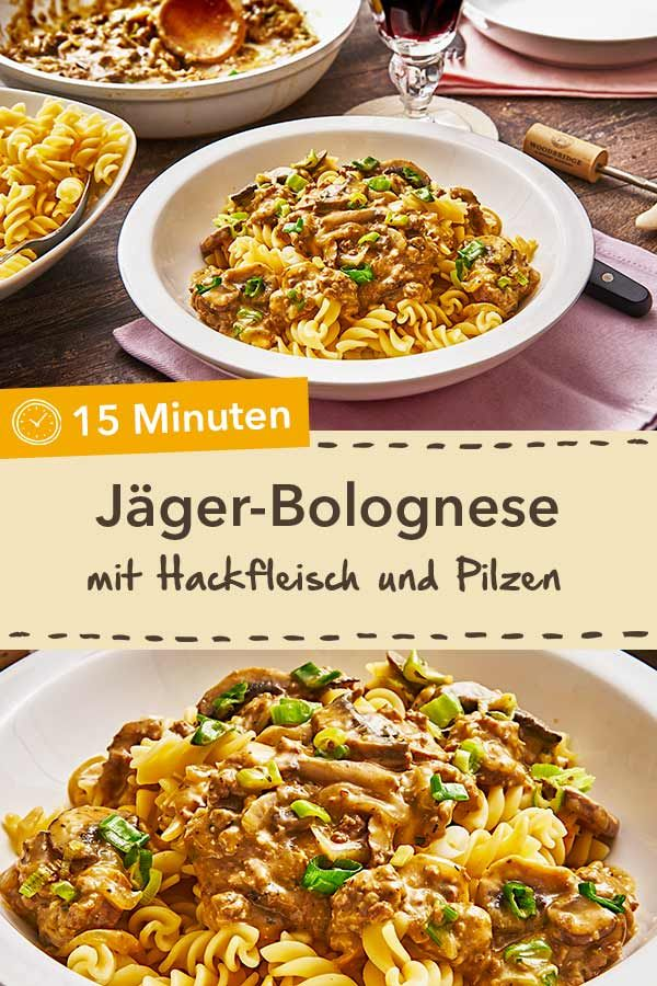 The fast alternative to Bolognese: Hunter's Bolognese with minced meat and ch ...