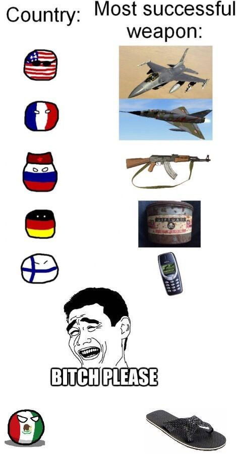 Most successful weapon - 9GAG