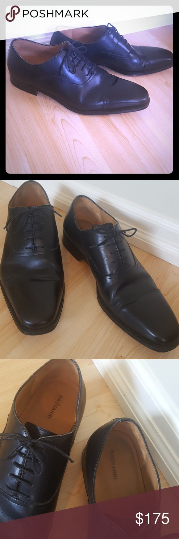 Magnanni Men's Oxford Dress Shoes Hand-made leather shoes from Spain by fami...