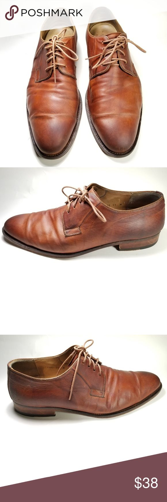 Magnanni Shoes Men's Size 11 Brown Leather Men's Size 11 1 in. Heel  Nor...