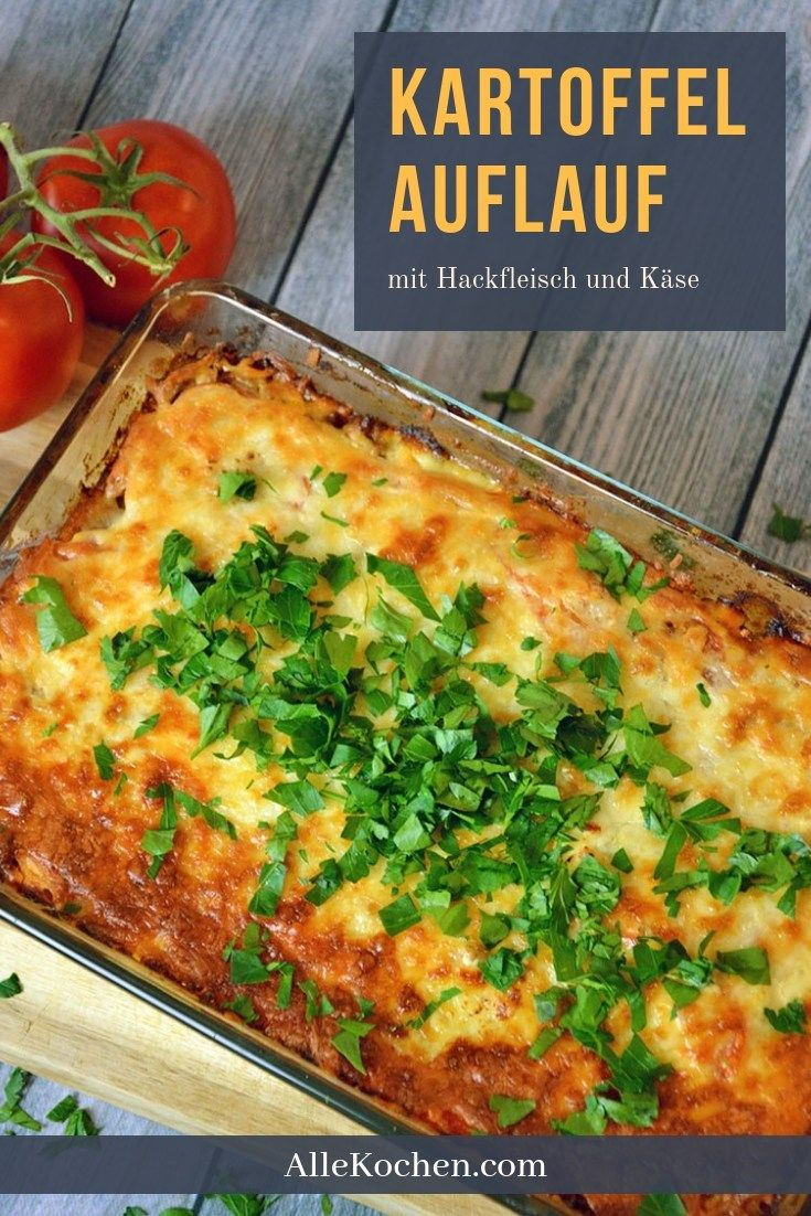 Soulfood in pure culture: Baked potato casserole with minced meat and cheese. ...