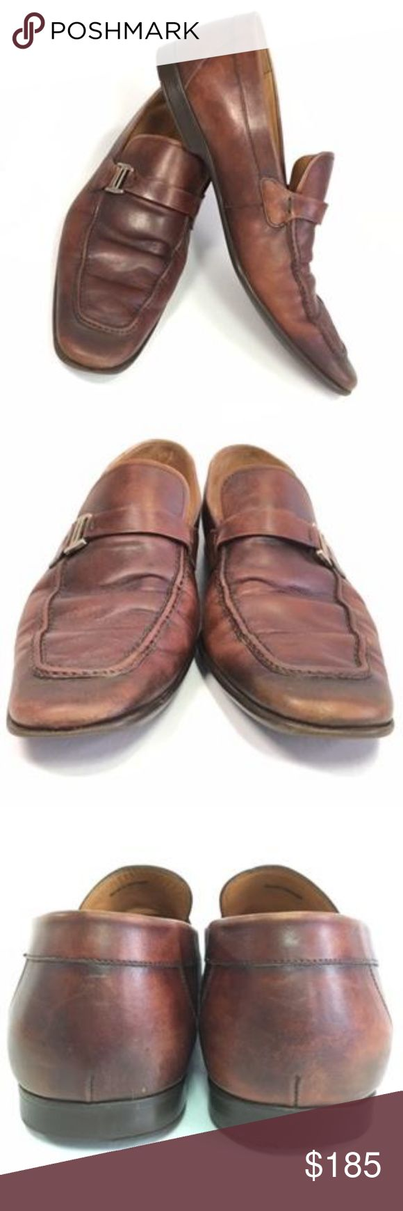 Magnanni Shoes Bit Loafers Spanish Brown Size 12 Magnanni Shoes Bit Loafers Span...
