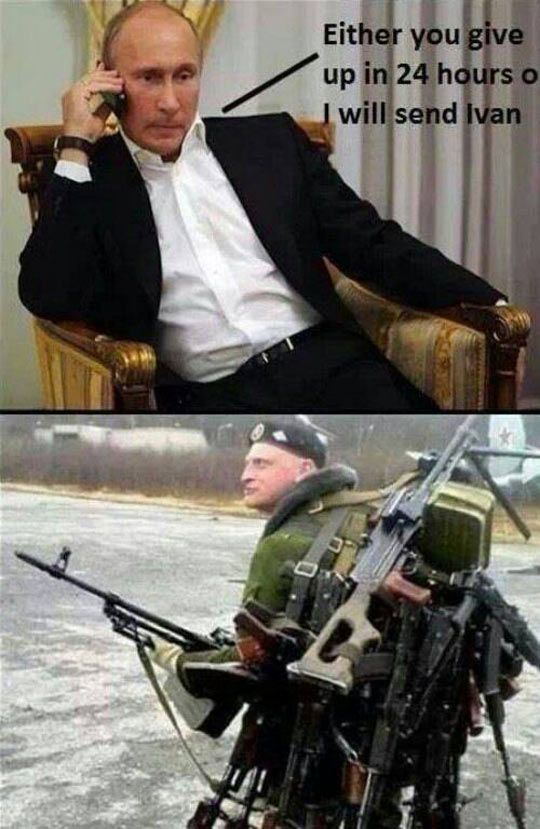Putin's Last Resort // tags: funny pictures - funny photos - funny images - fu...
