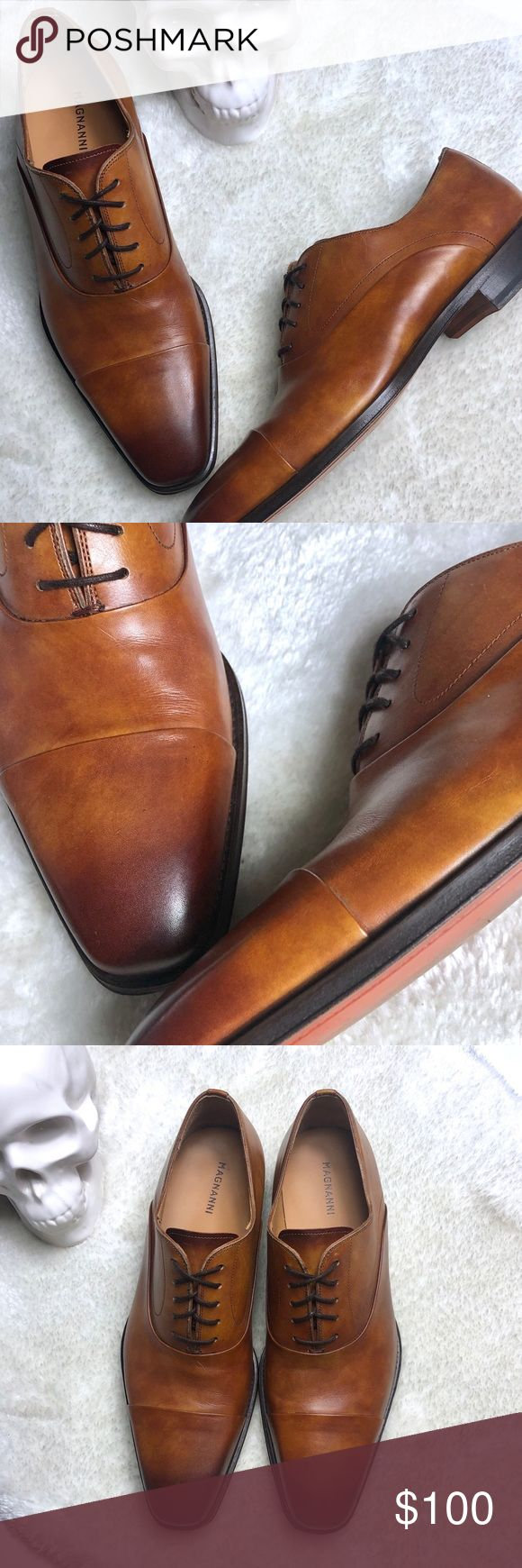 Magnanni | Saffron Toe Cap Oxfords Size 9 Magnanni | Saffron Toe Cap Oxfords  Si...