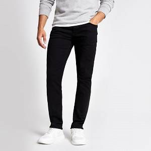 River Island Mens Black slim fit Dylan jeans (38L)