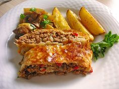 Minced meat - paprika - cheese - strudel, a tasty recipe from the category ...