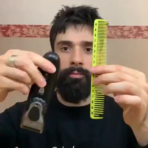 The daily beard grooming routine 😱💈