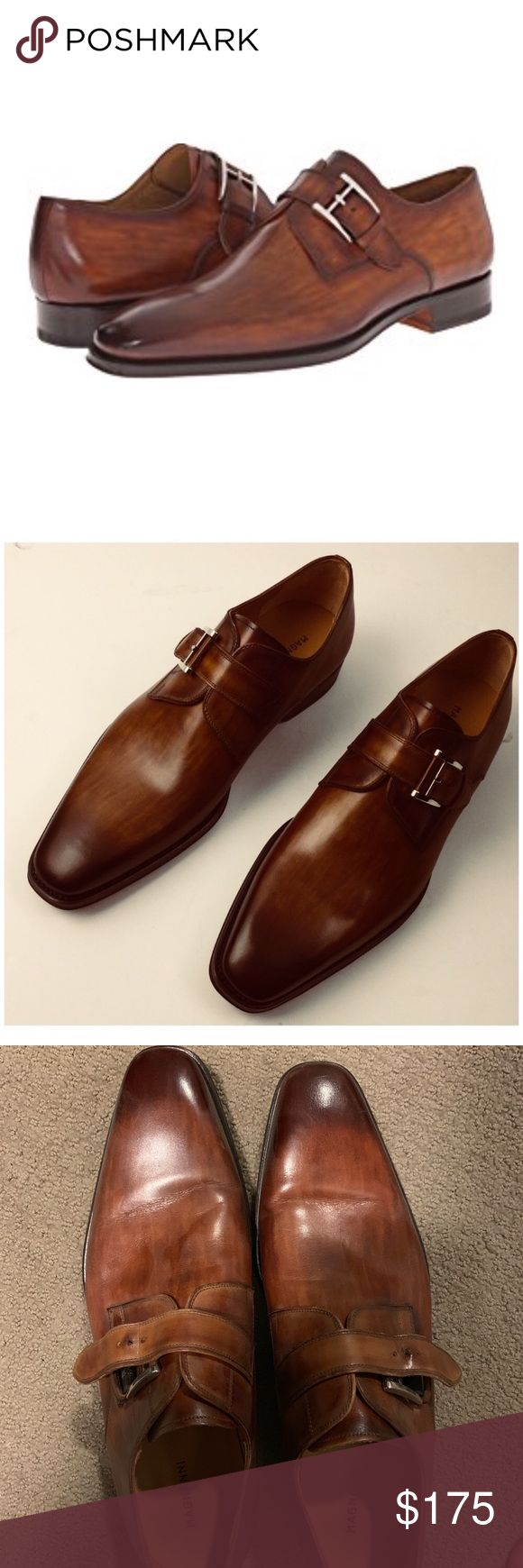 Magnanni Dress Shoes (Monk/Monk Straps) Maybe worn once or twice, otherwise imma...
