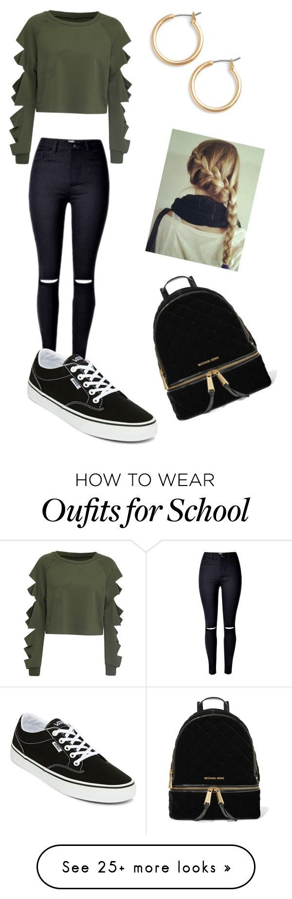 """School"" by gisselleotero on Polyvore featuring WithChic, Vans, Nordstrom and MI..."