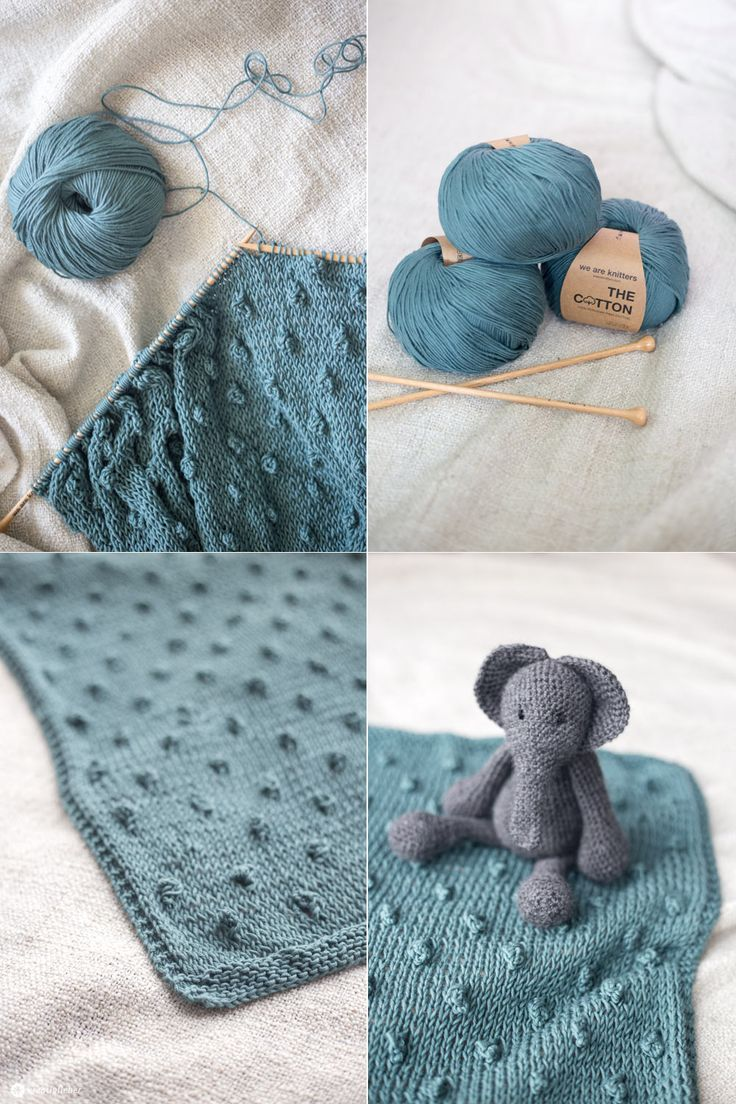 DIY knit baby blanket with knots - How to knit a knot - Instructions ...