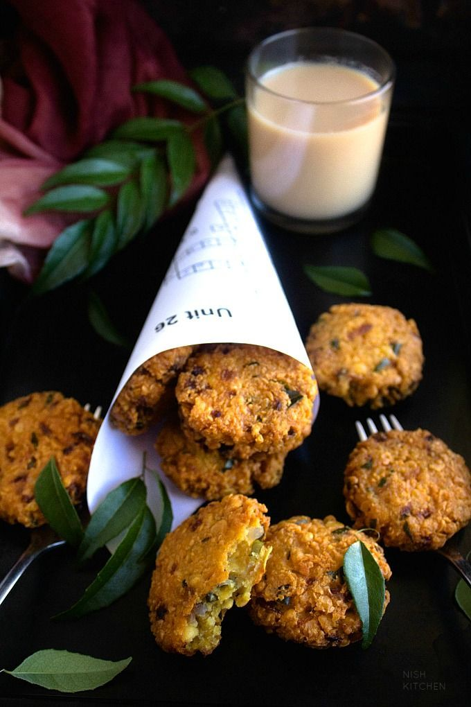 Parippu Vada | Masala Vada| South Indian Lentil Cakes - #Cakes #indian #Lentil #...