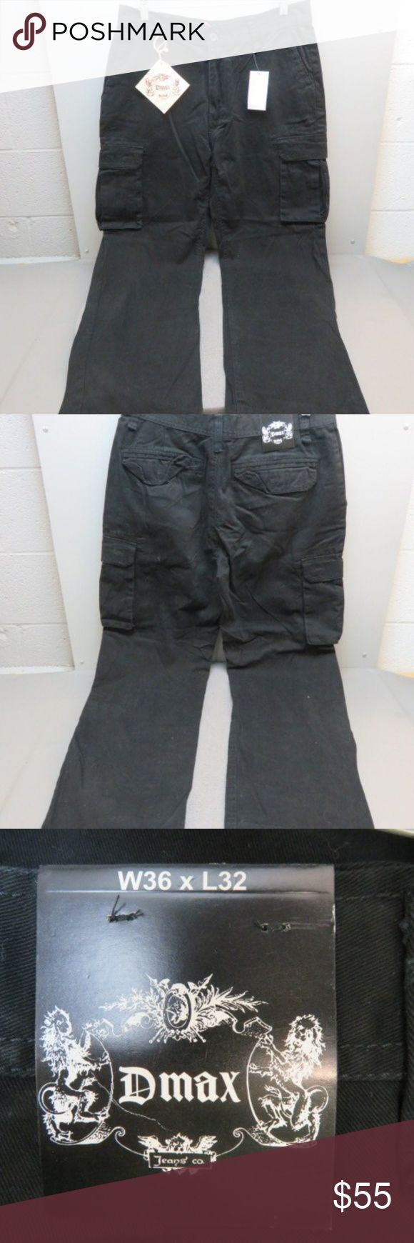 Men's Black Jeans from Dmax Jeans Co. 36W x 32L New With Tags! Nice Pockets!...