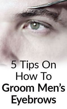 We show you how to groom men's eyebrows and clean them up so that they still...