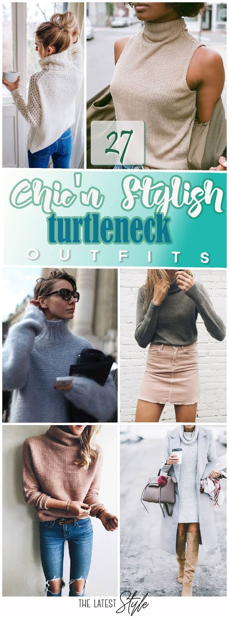 27 Stylish Turtleneck Outfit - #Outfit # Outfits2019 #Roll Collar ...