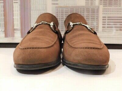 Men's Magnanni Brown Suede Metal Bit Loafers Size 11 M #fashion #clothing #shoes...