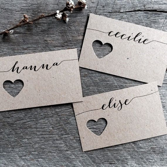Wedding Fork Place Cards Wedding Place Cards by LaPommeEtLaPipe
