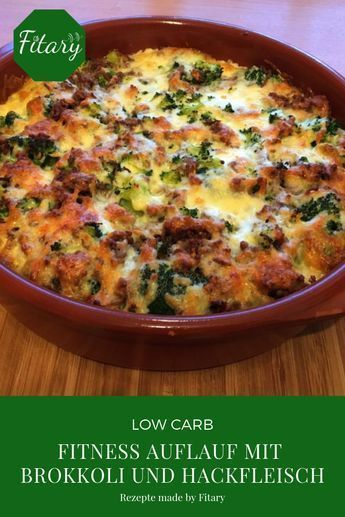 Make a casserole with broccoli and minced meat yourself.