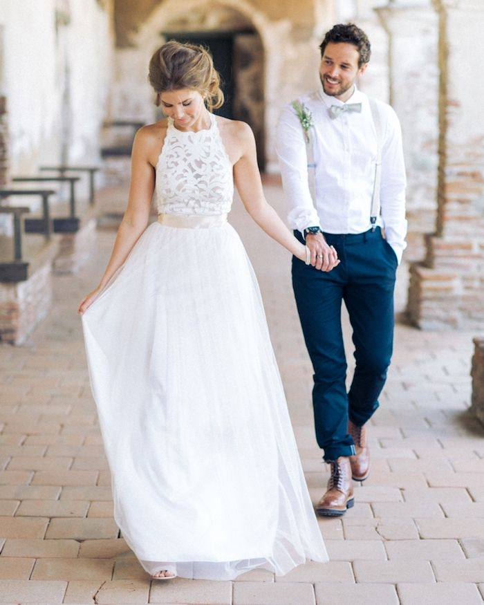 blue suit for wedding wear blue trousers white shirt suspenders man with bow tie