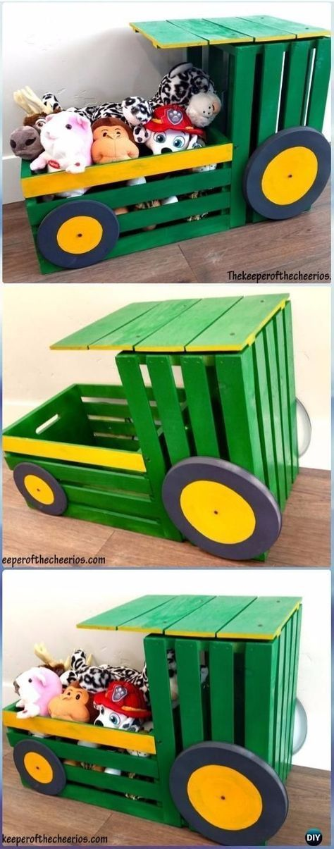 DIY Wooden Box Tractor Toy Box Instructions - DIY Wooden Box Furniture Ideas Free Shipping
