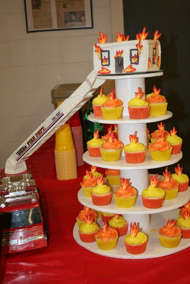 For the children's birthday party to the motto fire brigade we find this idea perf ...