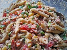 Pasta salad with minced meat