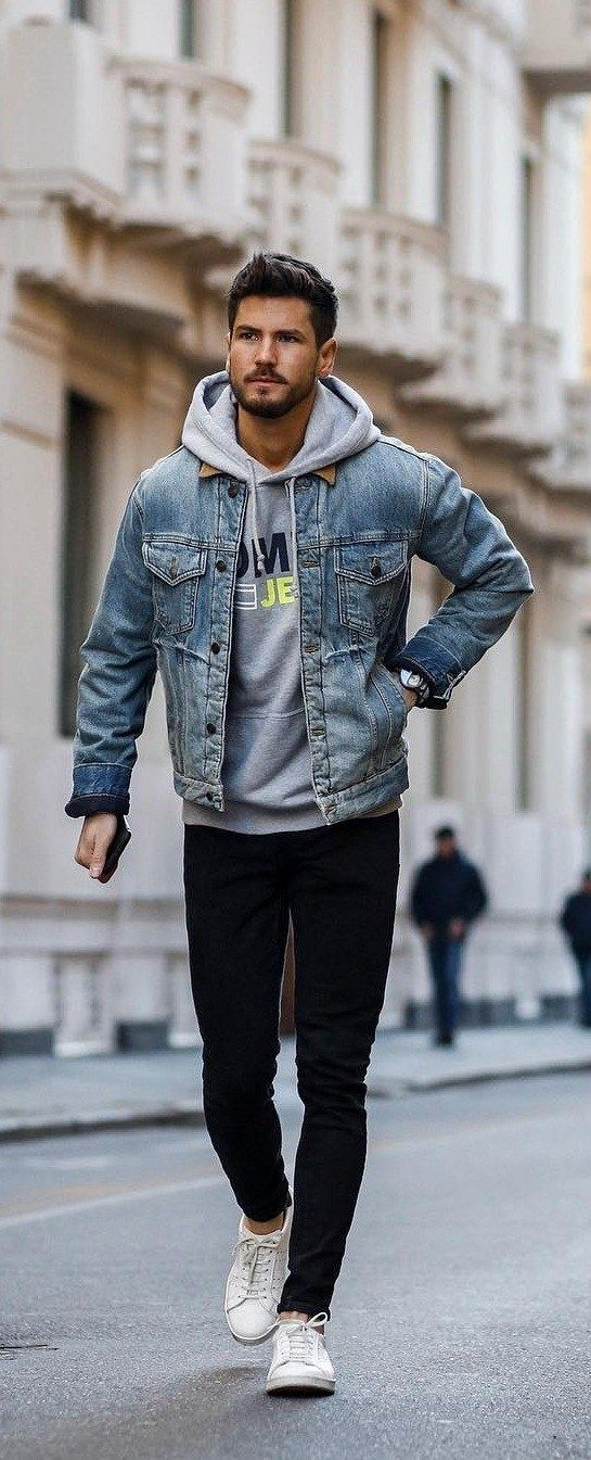 Trendy Hoodie Outfit Ideas for Men # Outfits #teenager # Girls # School # Schoo ...