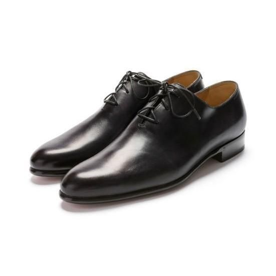 Men Black Formal Handmade Genuine Leather Shoes with laces - Leather Skin Shop