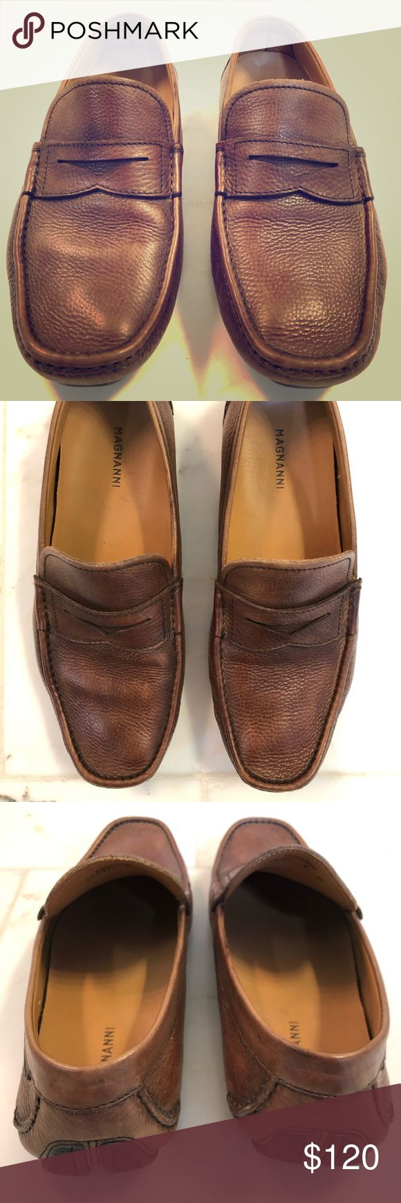 Men's Magnanni Brown Leather Driving Shoes Very soft and comfortable Magnanni ...