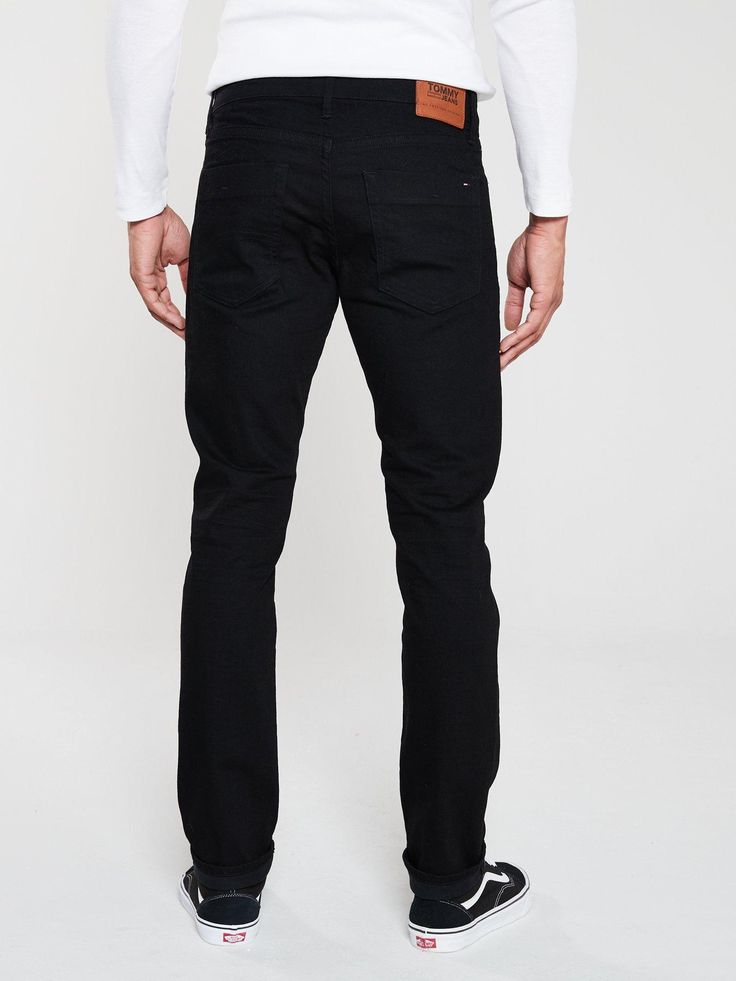 Tommy Jeans Scanton Slim Fit Jeans - Black, Black, Size 30, Length Regular, Men ...