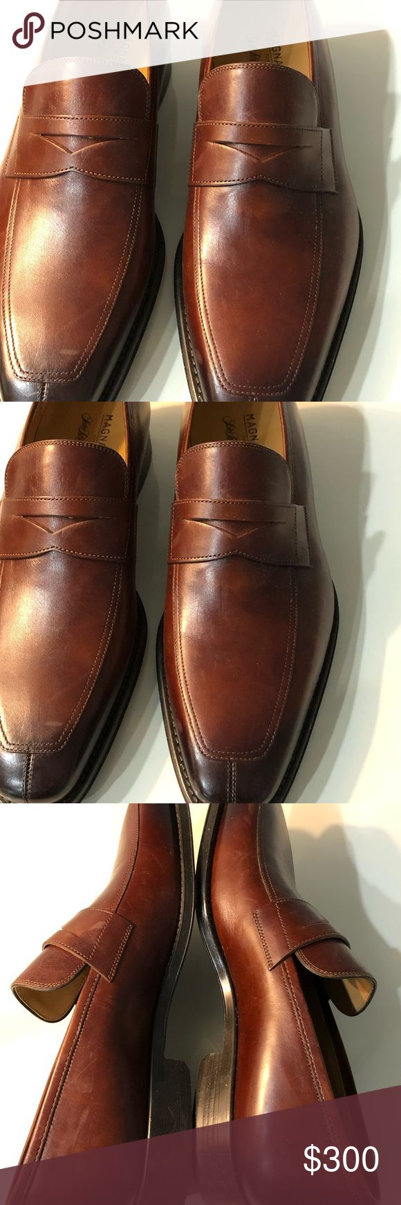 MAGANNI SAKS FIFTH AVENUE BROWN LOAFERS 8M Men Brown Loafers Magnanni SAKS Fifth...