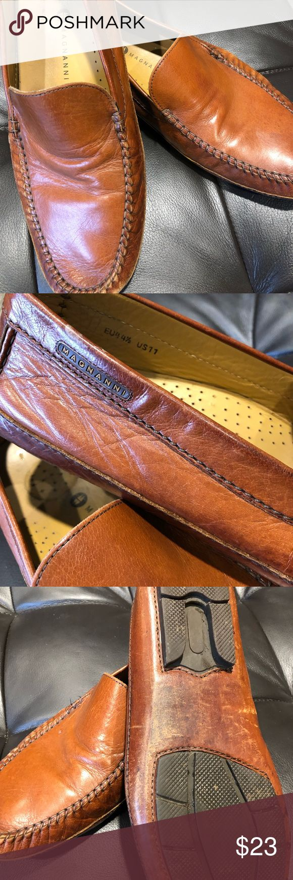 Magnanni loafers. Men's size 11 Magnanni loafers broken in, has some wear but ...