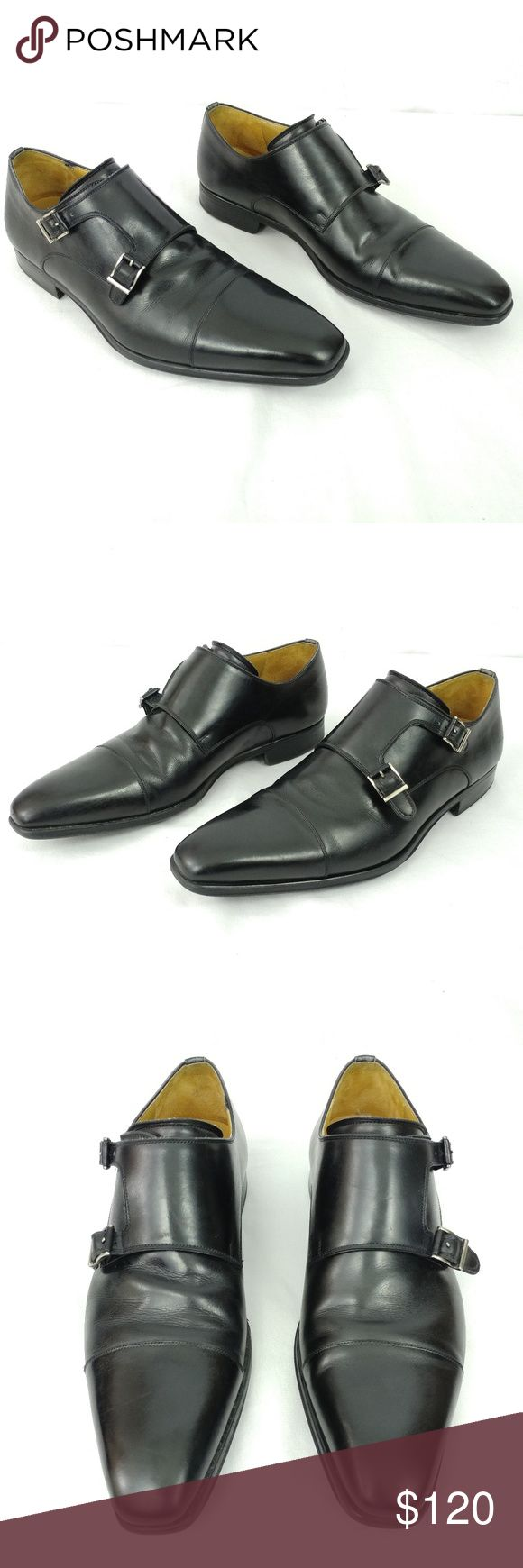 Magnanni Double Monk Strap Loafers Magnanni Black Leather Double Monk Strap Loaf...