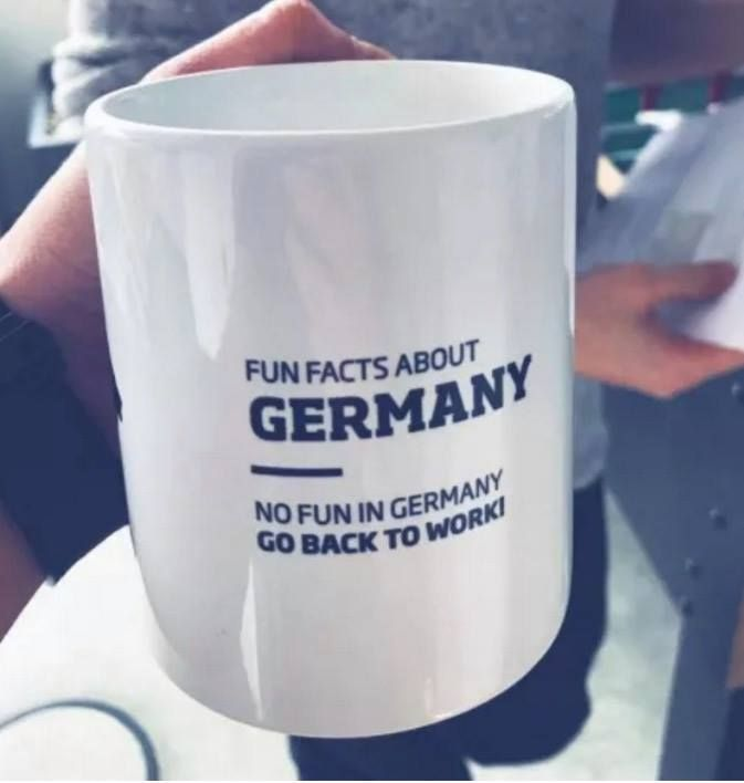 Here as a cup. The best office cup ever. Fun facts about germany from ...