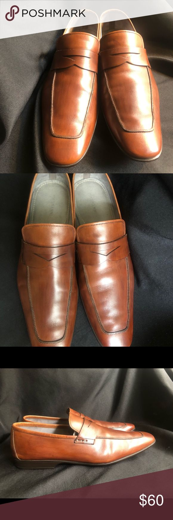 Magnanni Penny Loafers Made in Spain Size 11.5M Magnanni Brown Penny Loafers Mad...
