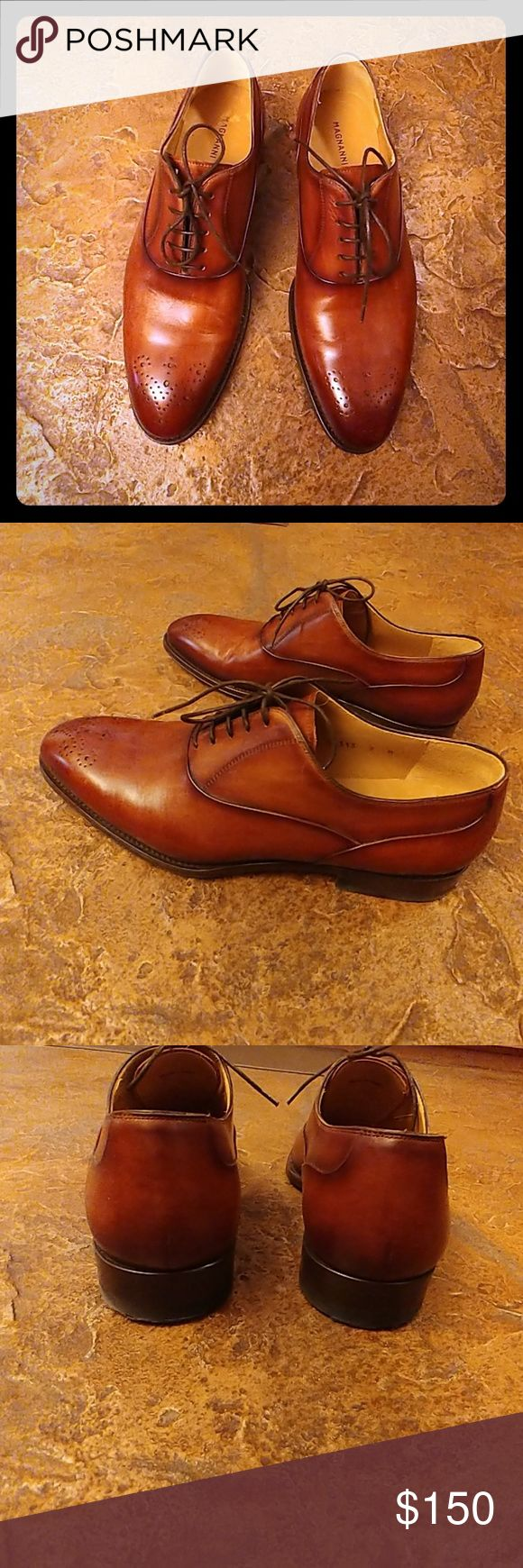 Magnanni mens shoes Made in Spain , size 9  42M. Very good condition as seen in ...