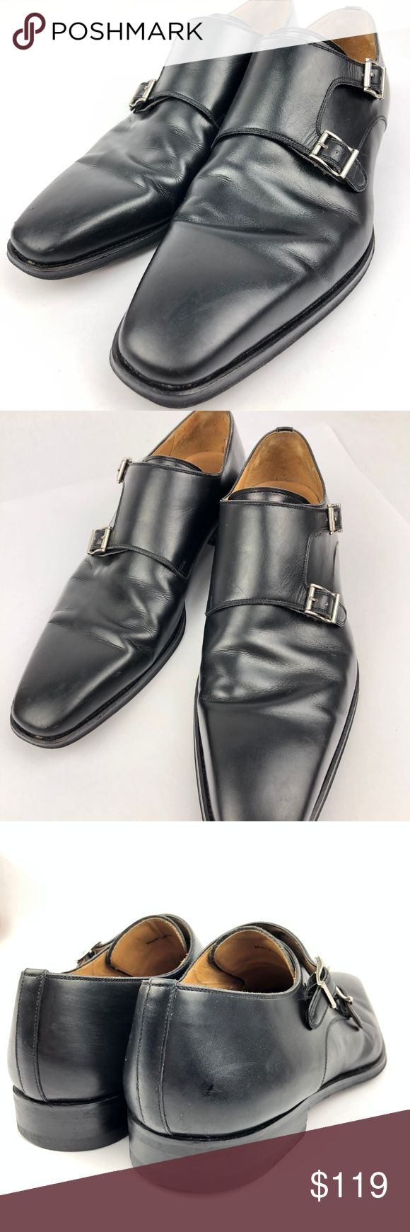 Magnanni Leather Double Monk Plain Loafer  11.5 M Magnanni Carmo Leather Double ...