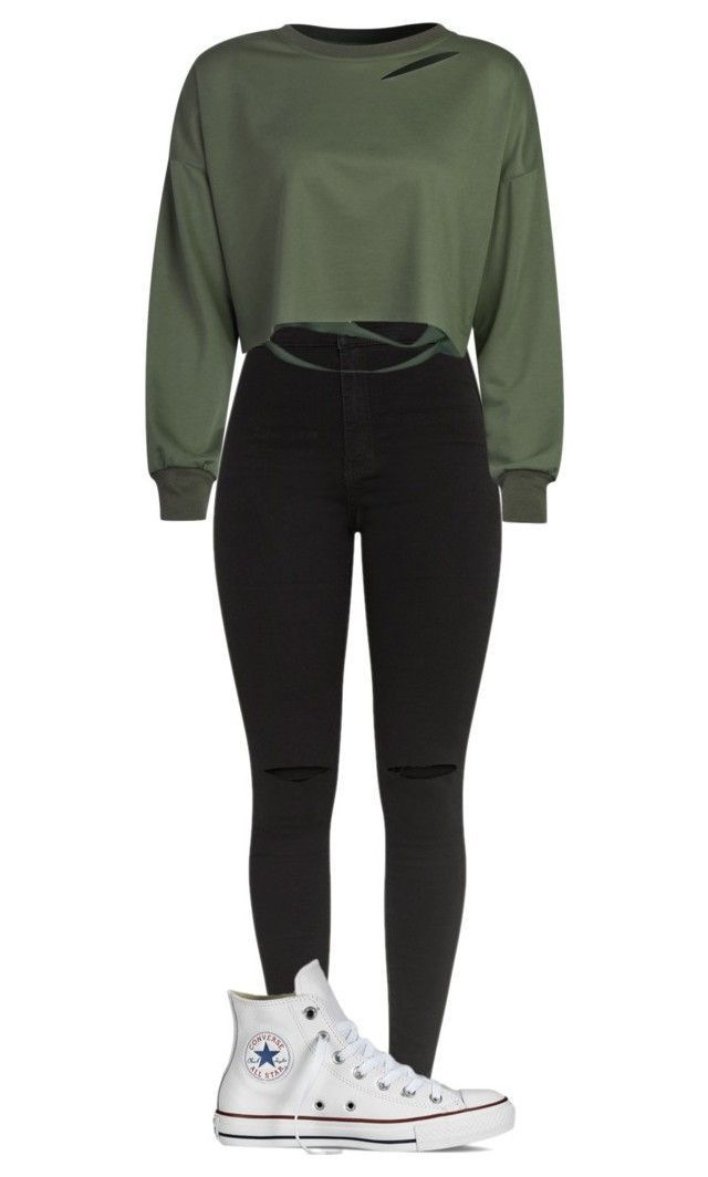 """""""Outfit"""" by vicky-skoufh on Polyvore with Converse and WithChic, #converse #o ..."""