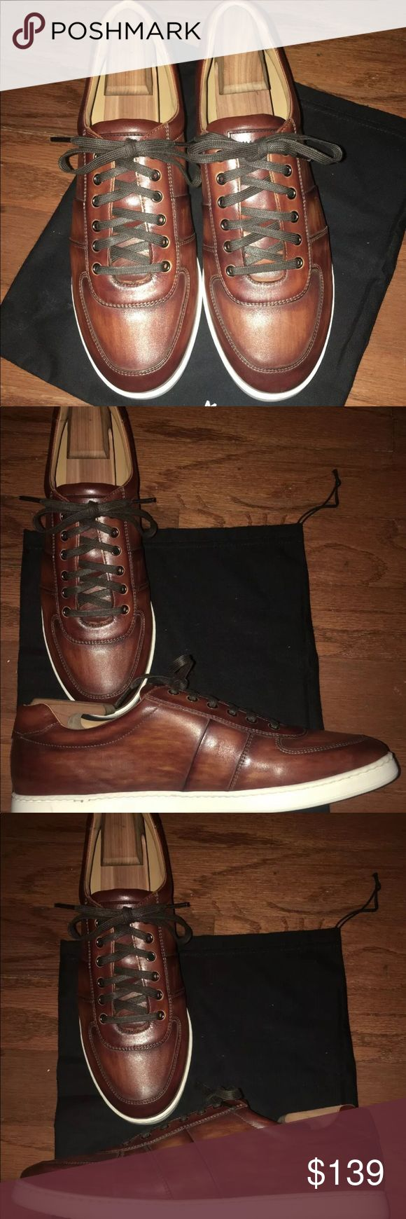 $325 NEW Magnanni Franco Lo Sneakers Cognac Sz 12 These brand new Magnanni Franc...