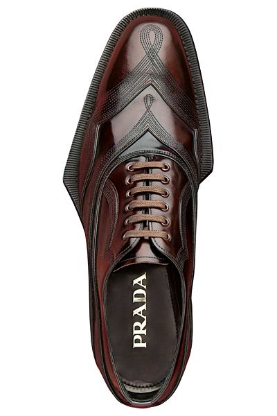 """definitivemale: """"Loved or Hated but never.. Prada - Embroidered Lace-Up. """""""