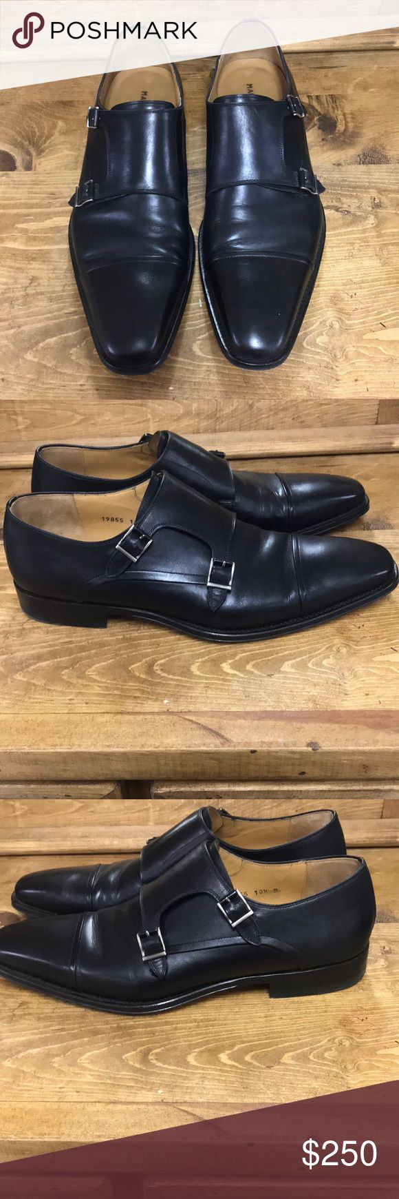 Men's Black Magnanni Double Monk Dress Shoe Bought from Dillards 3 weeks ago, ...