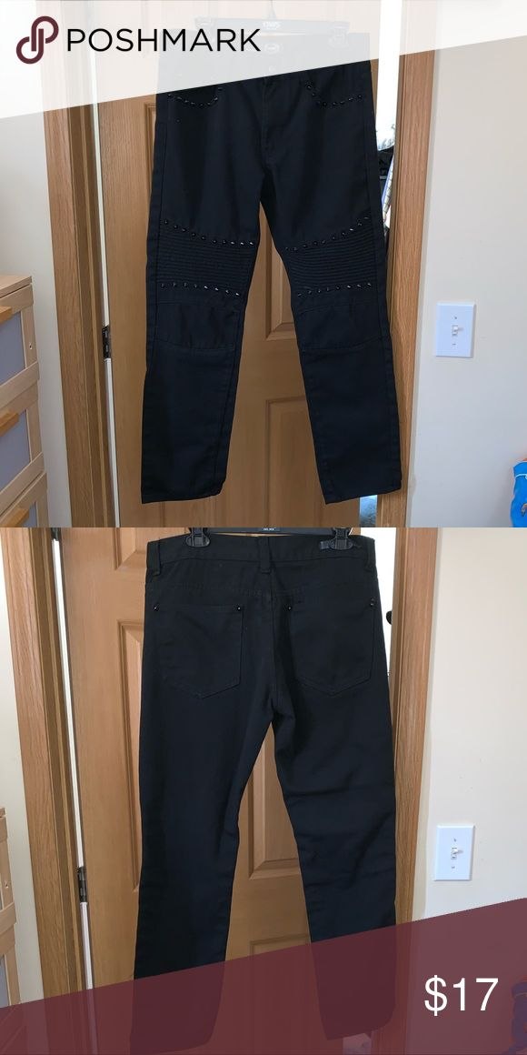 Black Spiked Jeans Black Spiked Jeans Gently used, normal wear Good condition Si...