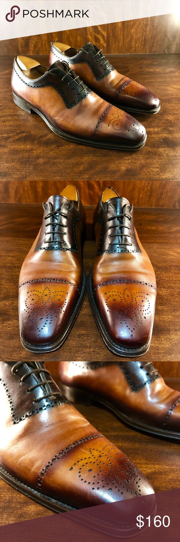 LIKE NEW! Magnanni Leather Dress Shoes! Sz 9 Immaculate pair of Magnanni dress s...