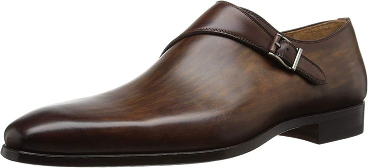 Amazon.com: Magnanni Men's Efren Monk Strap, Tobacco, 8.5 M US: Shoes