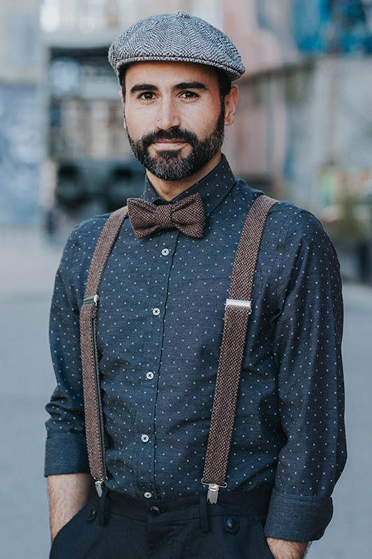 Brown Bow Tie and Suspenders Mens Bow Tie and Matching #bowtiesuspender, #suspen...