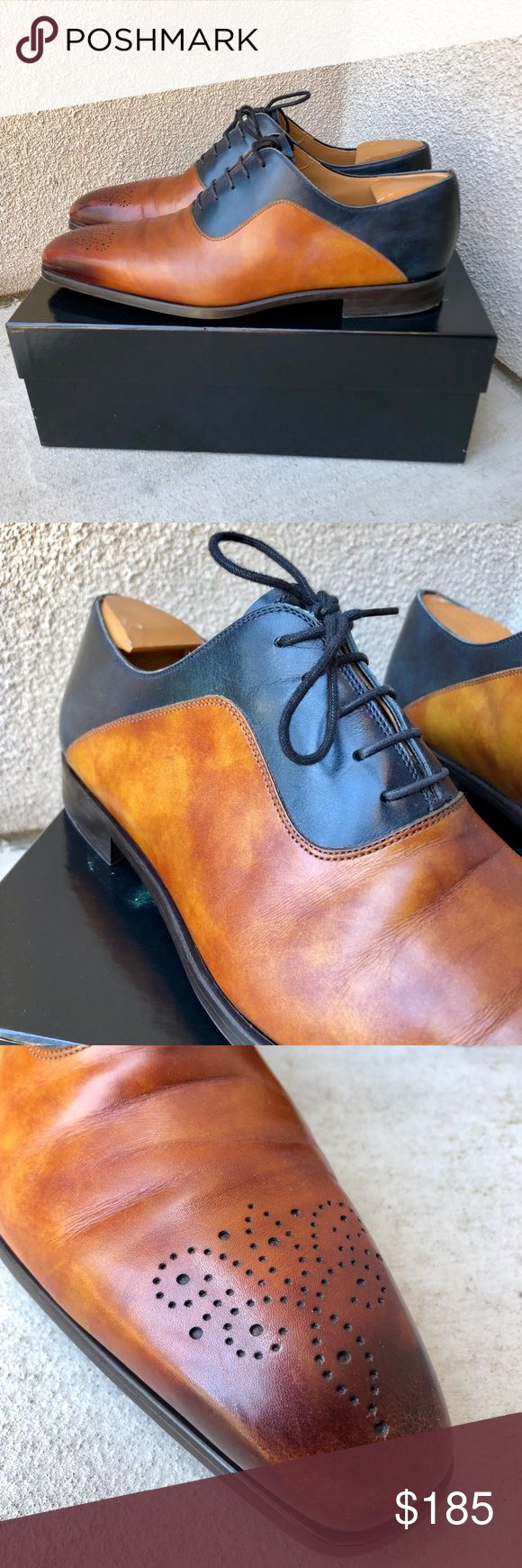 Men's Magnanni Colorblock Design Dress Shoes! Absolutely stunning pair of Magn...