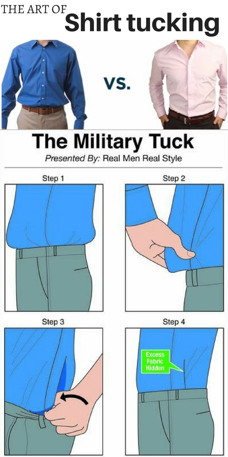 Men's Style tip (works for women too): there is a right way to tuck in your ...