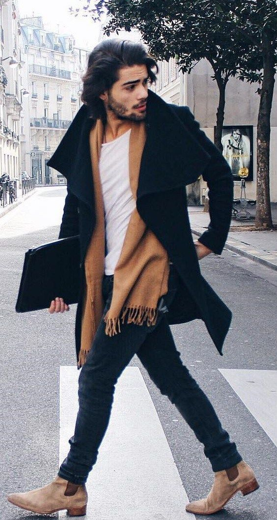 Want to learn how to wear a scarf like a gentleman? Read This now.  Mens Fashion...