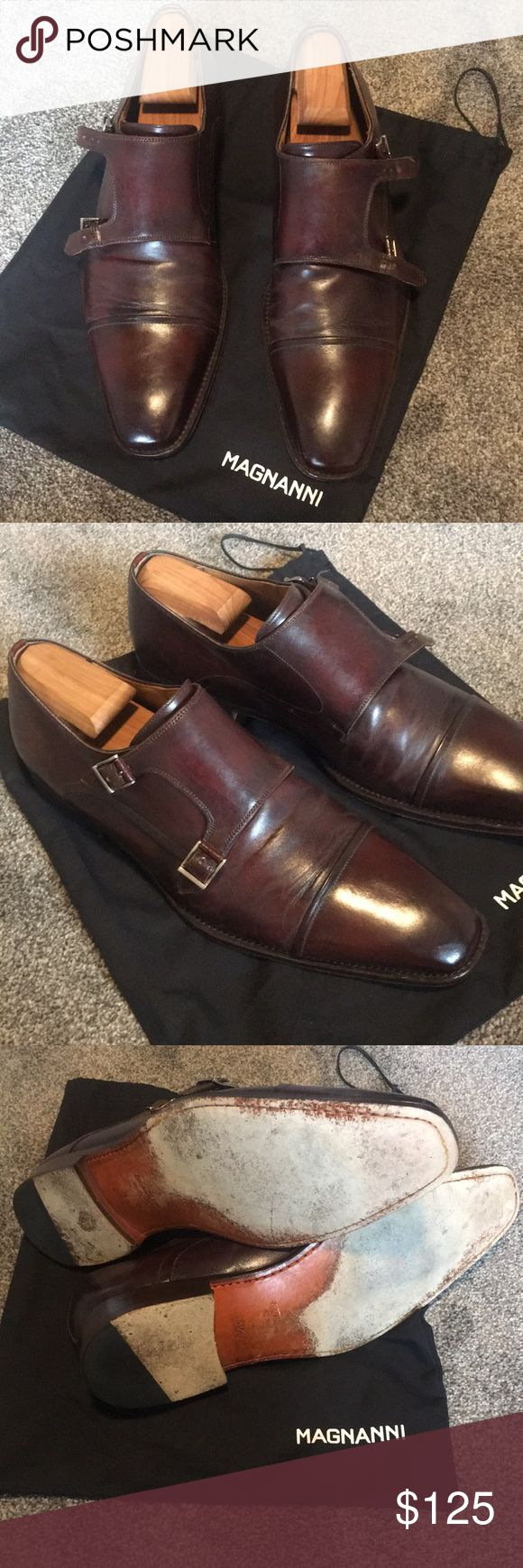 Magnanni double monk strap Good condition magnanni double monk strap in tobacco....