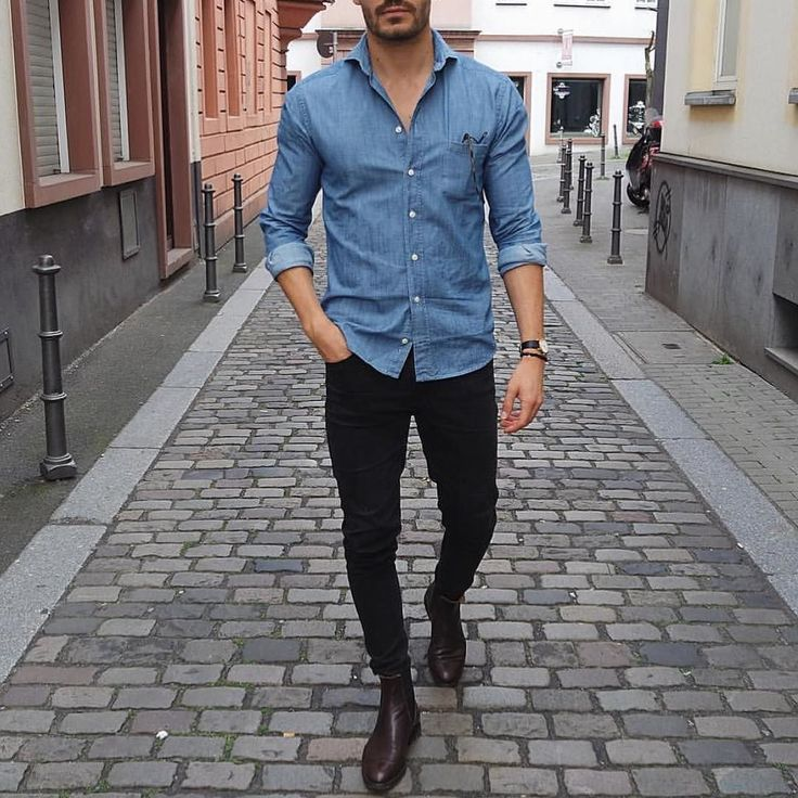 56 Casual Black Jeans For Men to Wear This Fall outfitmax.com/...
